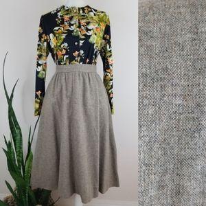 VTG 60's Jack Winter Wool-blend Whirl Skirt